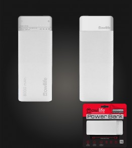 PowerBank by owllife 8000 - White