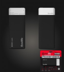 PowerBank by owllife 8000 - Black
