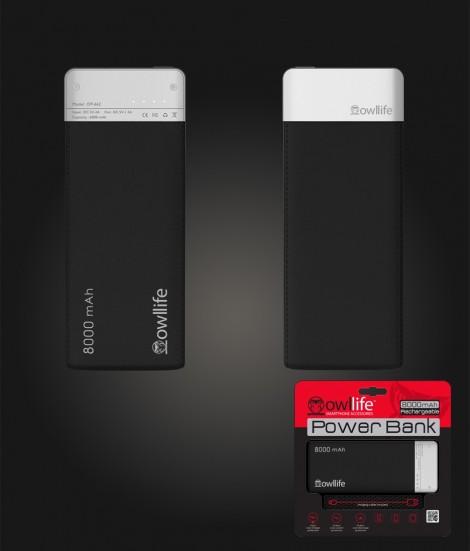 PowerBank by owllife 8000 - Black