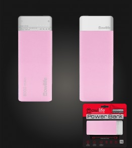 Powerbank by owllife 8000 - Pink