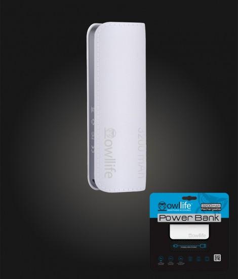 PowerBank by owllife 3200 - White