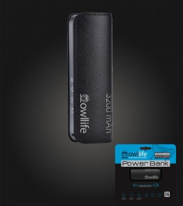 PowerBank by owllife 3200 - Black