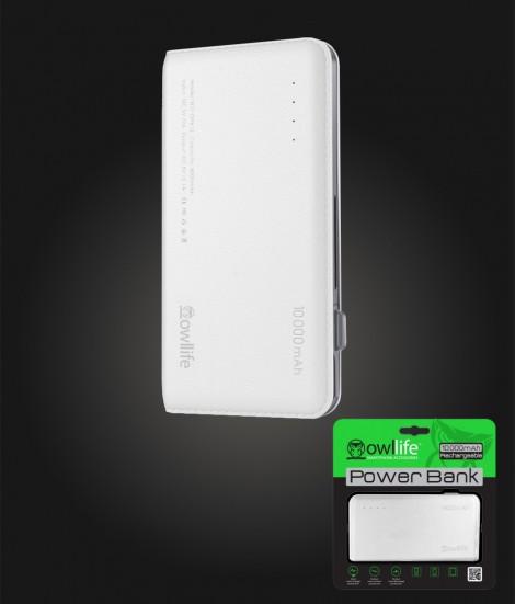 PowerBank by owllife 10000 - White