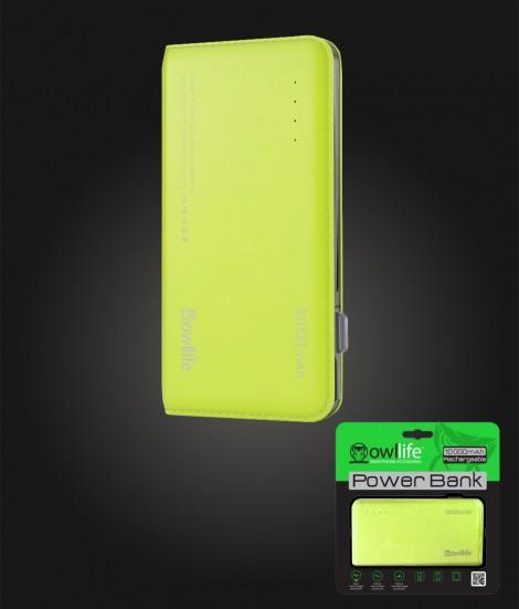 PowerBank by owllife 10000 - Green