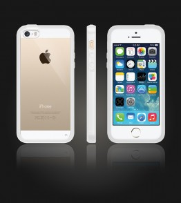 Clear Back Gummy Case iphone 5/5S/SE - White