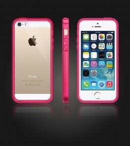 Clear Back Gummy Case iphone 5/5S/SE - Pink