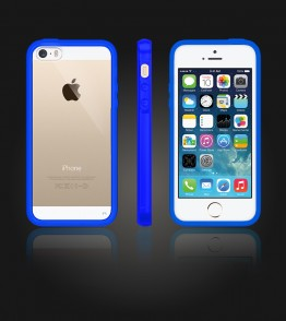 Clear Back Gummy Case iphone 5/5S/SE - Blue