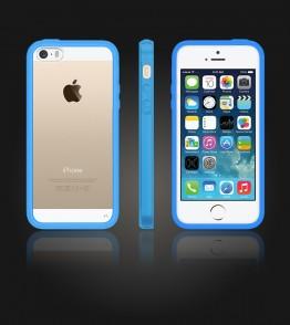 Clear Back Gummy Case iphone 5/5S/SE - Light Blue