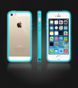 Clear Back Gummy Case iphone 5/5S/SE - Mint
