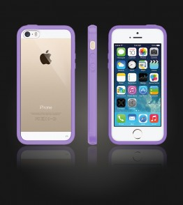 Clear Back Gummy Case iphone 5/5S/SE - Purple