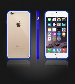 Clear Back Gummy Case iphone 6/6S - Blue