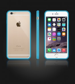 Clear Back Gummy Case iphone 6/6S - Light Blue