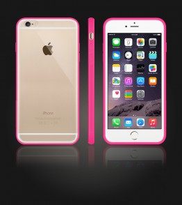 Clear Back Gummy Case iphone 6 Plus/6S Plus - Pink