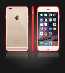Clear Back Gummy Case iphone 6 Plus/6S Plus - Red
