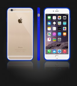 Clear Back Gummy Case iphone 6 Plus/6S Plus - Blue