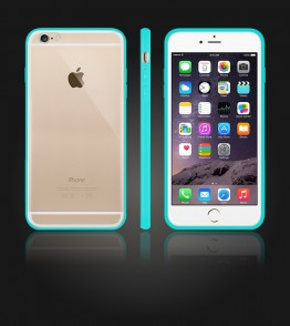Clear Back Gummy Case iphone 6 Plus/6S Plus - Mint