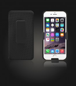 Holster Combo Case with Kick-Stand & Belt Clip iPhone 6/6S - Black