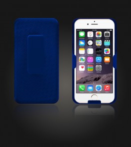 Holster Combo Case with Kick-Stand & Belt Clip iPhone 6/6S - Blue