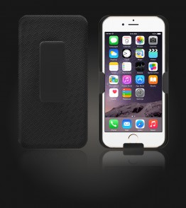 Holster Combo Case with Kick-Stand & Belt Clip iPhone 6 Plus/6S Plus - Black
