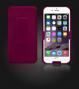 Holster Combo Case with Kick-Stand & Belt Clip iPhone 6 Plus/6S Plus - Pink