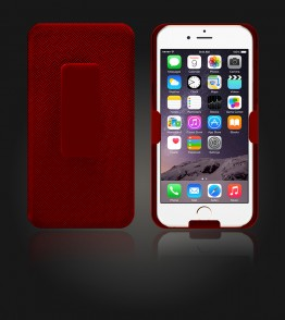 Holster Combo Case with Kick-Stand & Belt Clip iPhone 6 Plus/6S Plus - Red