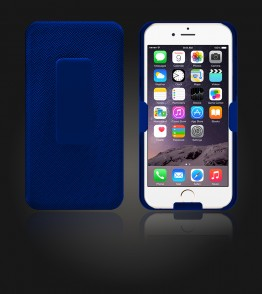 Holster Combo Case with Kick-Stand & Belt Clip iPhone 6 Plus/6S Plus - Blue