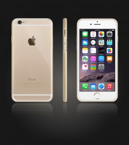 Detachable Bumper TPU Clear case iphone 6/6S - Gold