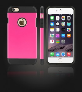 Duo Protection Case iphone 6 Plus/6S Plus - Pink