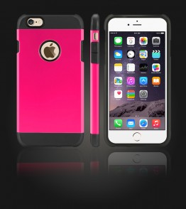 Duo Protection Case iphone 6 Plus/6S Plus - Hot Pink