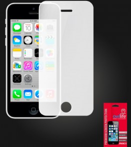 owllife Premium Screen Protector iPhone 5C White Privacy