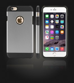 Duo Protection Case iphone 6 Plus/6S Plus - Silver