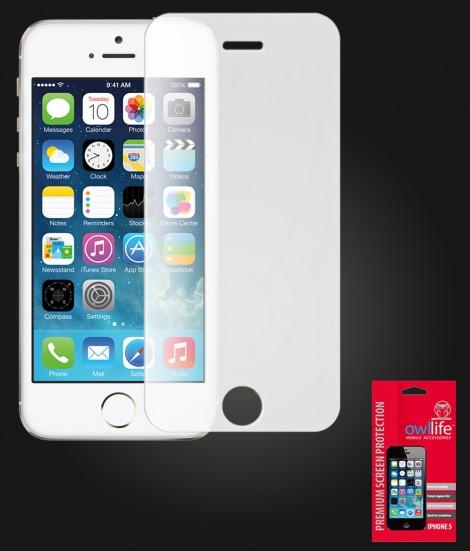 owllife Premium Screen Protector iPhone 5/5S/SE White Privacy