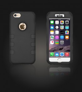 Hybrid Protector Cover iphone 6/6S - Black