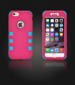 Hybrid Protector Cover iphone 6/6S - Hot Pink