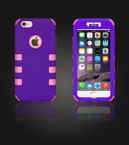 Hybrid Protector Cover iphone 6/6S - Purple/Pink
