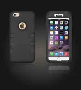 Hybrid Protector Cover iphone 6 Plus/6S Plus - Black