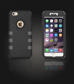 Hybrid Protector Cover iphone 6 Plus/6S Plus - Gray