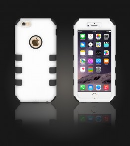 Hybrid Protector Cover iphone 6 Plus/6S Plus - White