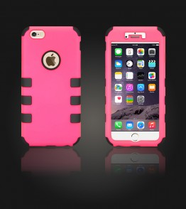 Hybrid Protector Cover iphone 6 Plus/6S Plus - Hot Pink/Black