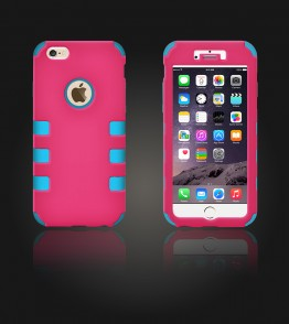 Hybrid Protector Cover iphone 6 Plus/6S Plus - Hot Pink