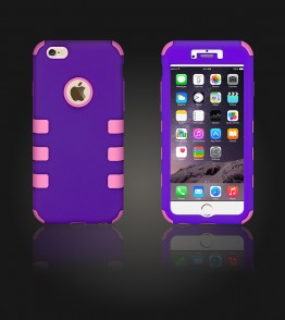 Hybrid Protector Cover iphone 6 Plus/6S Plus - Purple/Pink