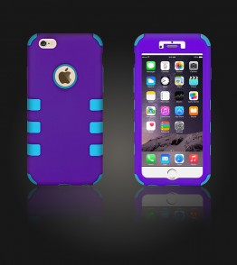 Hybrid Protector Cover iphone 6 Plus/6S Plus - Purple/Light Blue