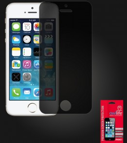 owllife Premium Screen Protector iPhone 5/5S/SE Black Privacy