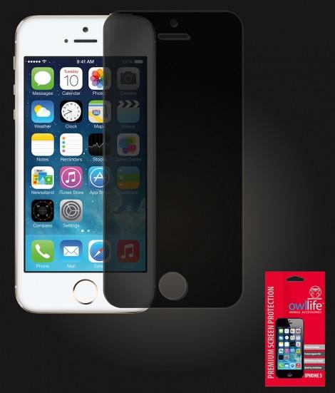 owllife Premium Screen Protector iPhone 5/5S/SE Black Privacy