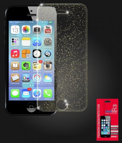 owllife Premium Screen Protector iPhone 5/5S/SE Sparkle