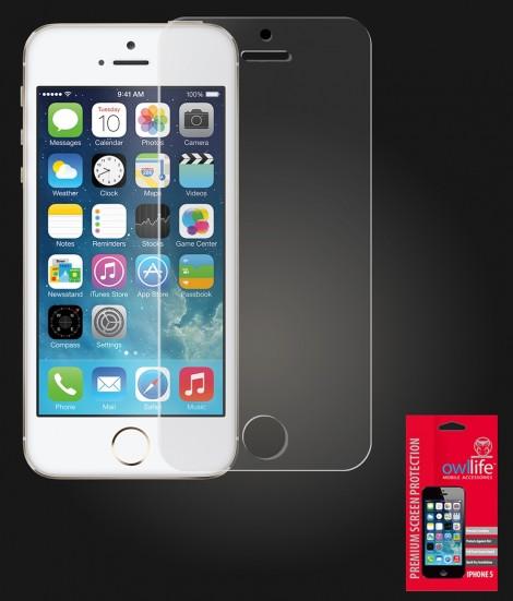 owllife Premium Screen Protector iPhone 5/5S/SE Clear