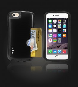 Owllife Credit Card Candy Case iphone 6/6S - Black