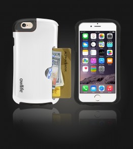 Owllife Credit Card Candy Case iphone 6/6S - White
