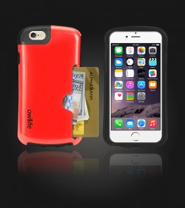 Owllife Credit Card Candy Case iphone 6/6S - Red