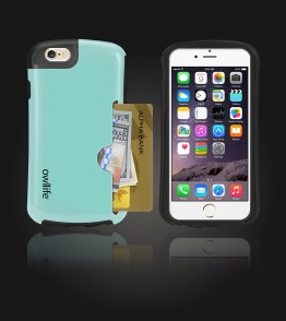 Owllife Credit Card Candy Case iphone 6/6S - Mint
